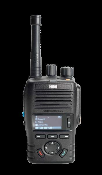 DX425 DMR/analogue licenced portable, Land based 136-174MHz, Display & Navikey