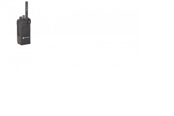 Tragetasche Hartleder mit 76mm fester Gürtelschlaufe für DP4000 ohne Display / Tastatur