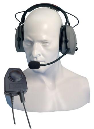 Hörsprechgarnitur mit Bügel und PTT Taste CHP450D für HX-Serie
