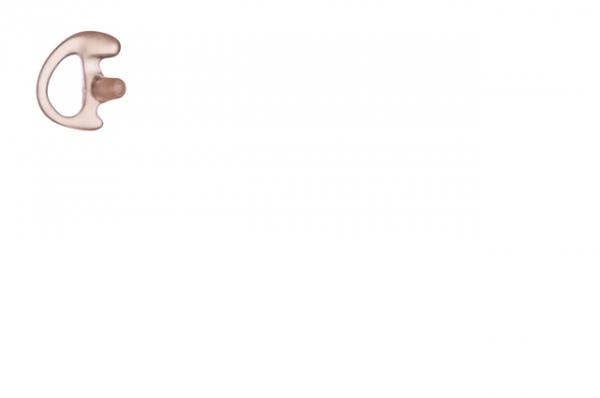 Ohreinsatz flexibel links für Ohrhörer mit Schallschlauch Farbe klar Grösse S RLN4763A
