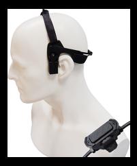 Schädelknochen Hörsprechgarnitur zu HT Serie CXE19-750, wasserdicht