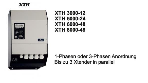 XTH 3000VA - 8000VA Wechselrichter/Batterielader