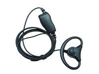 Hör-Sprechgarnitur mit Ohrhörer D-Form + Schwanenhalsmik. PTT